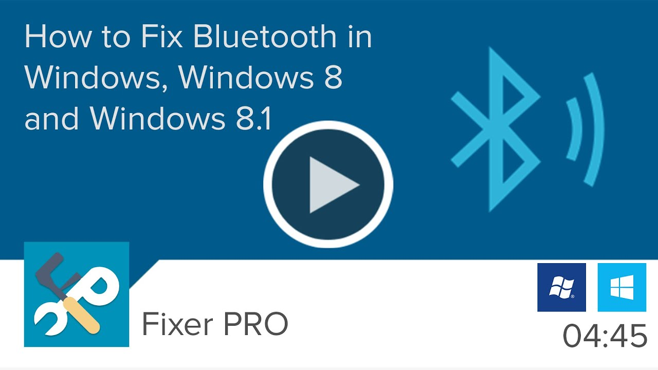 bluetooth not working fix windows 8 1 and 10 fixer pro. Black Bedroom Furniture Sets. Home Design Ideas