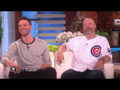Chicago Cubs Kris Bryant and David Ross Celebrate with Ellen!