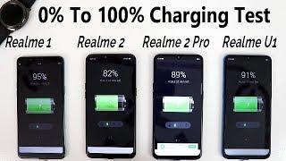 Realme U1 Vs Realme 2 Pro Vs Realme 2 Vs Realme 1 Charging Test !! Kitna Time Lageag Charging Me !!
