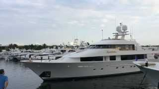 Motor Yacht Constellation Docking at Ocean Reef