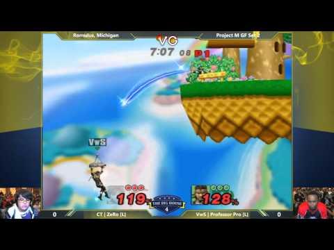 TBH4 - ZeRo (Pit, Fox) vs Professor Pro (Snake) - Project M Grand Finals - Smash PM