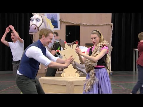 Tangled: The Musical rehearsal preview behind the scenes for Disney Cruise Line
