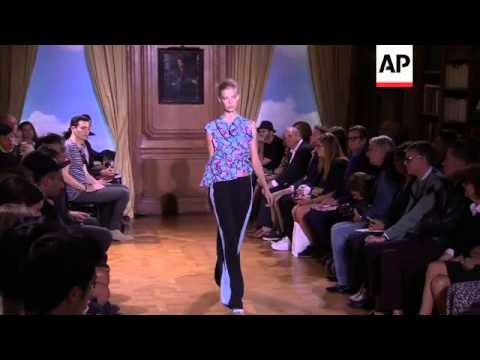 Viktor and Rolf present thier Spring-Summer 2015 collection at Paris Fashion Week.