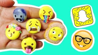 DIY SNAPCHAT FILTERS ON EMOJI! Polymer Clay Tutorial