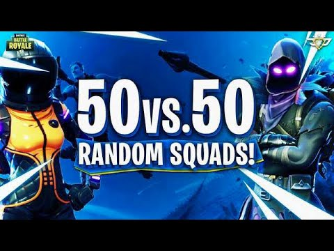 WHAT IS WRONG WITH ME?! - Random 50 v 50 Squads! (Fortnite ...