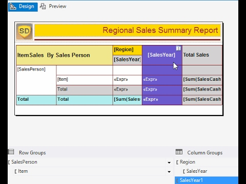 SSRS - How to add an Adjacent Group to a Matrix in Report