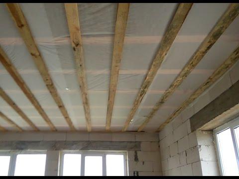 Как сделать черновой потолок в частном доме фото 759