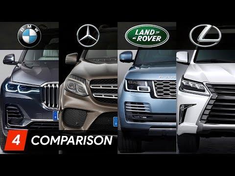 2019 BMW X7 Vs Mercedes GLS Vs Range Rover Vs Lexus LX ► Design & Specifications