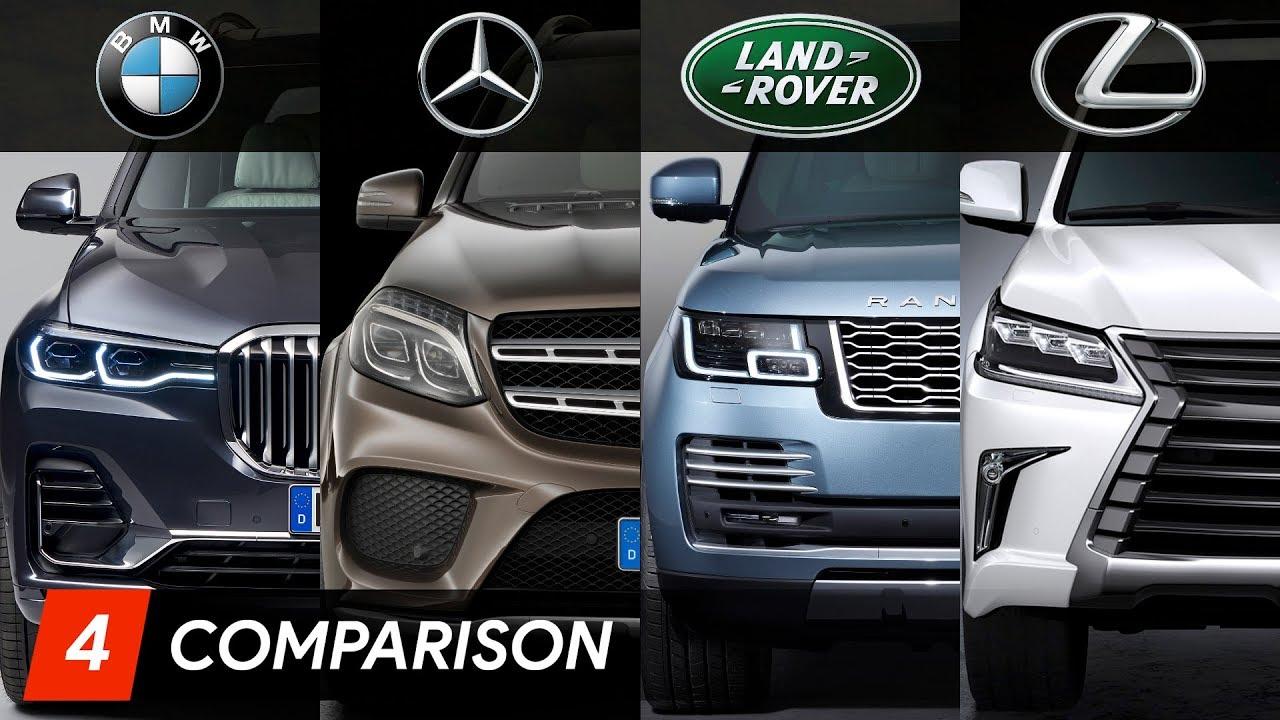 2019 BMW X7 Vs Mercedes GLS Vs Range Rover Vs Lexus LX Design & Specifications - YouTube