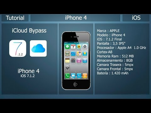 iCloud Bypass - iOS 7.1.2 - iPhone 4