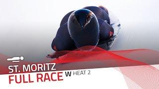 St. Moritz | BMW IBSF World Cup 2018/2019 - Women's Skeleton Heat 2 | IBSF Official