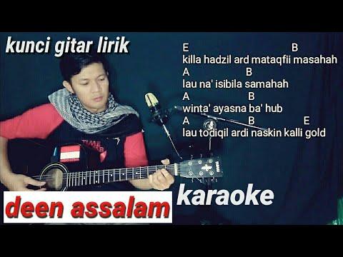 DEEN ASSALAM kunci gitar (no vocal) karaoke akustik