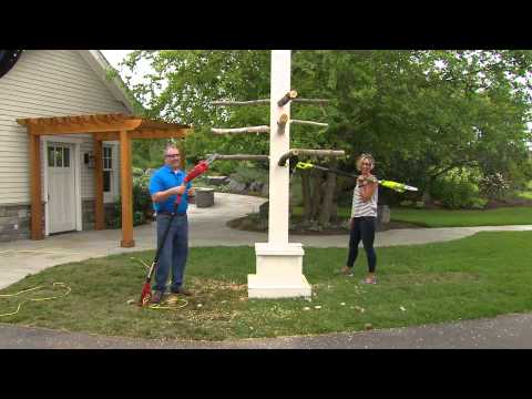Ships 8/6 Sun Joe Multi-Angle Telescopic Pole Chainsaw with Dan Hughes