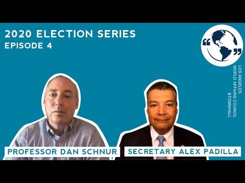 A Conversation with California Secretary of State Alex Padilla & Dan Schnur