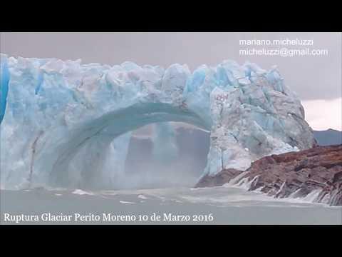 Perito Moreno Glacier Rupture 2016 from Rico branch of Argentino Lake from YouTube · Duration:  2 minutes 31 seconds