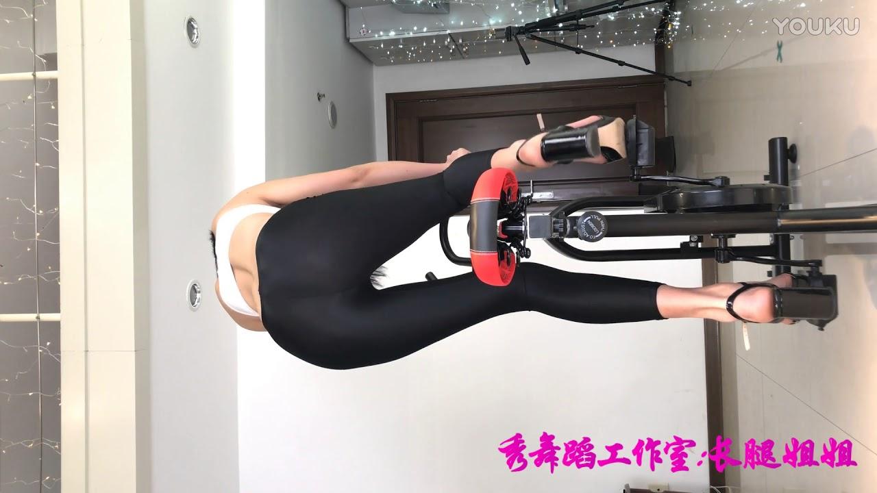 紧身裤跳舞_[SexyDance]超近视角动感单车秀舞蹈长腿姐姐黑色紧身高裤美