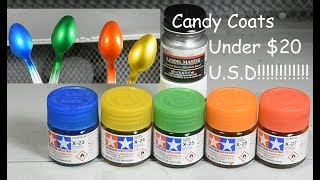 Gunpla Candy Finishes with Tamiya Clears and Model Master Enamel for under $20
