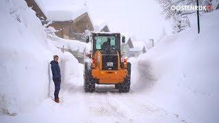 Bizarre hoeveelheden sneeuw in Oostenrijk: Hochfilzen 08.01.2019 | Oostenrijk TV