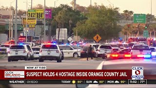 Gambar cover Suspect holds 4 hostage inside Orange County Jail