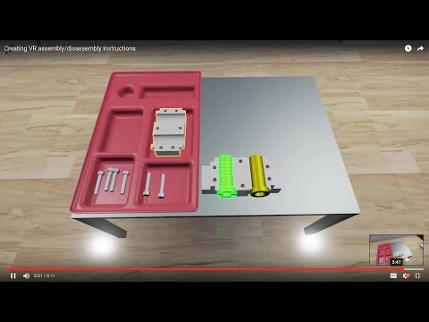 Creating VR assembly/disassembly instructions