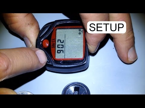 HOW TO SETUP BICYCLE COMPUTER YJ-905