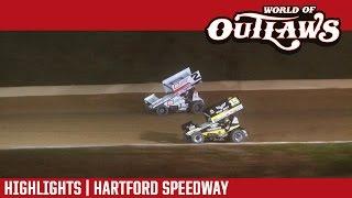 World of Outlaws Craftsman Sprint Cars Hartford Speedway Highlights