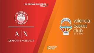 AX Armani Exchange Milan - Valencia Basket Highlights | Turkish Airlines EuroLeague, RS Round 19