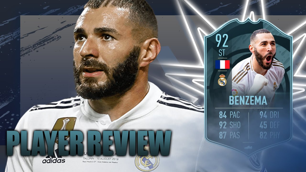 FIFA 20 POTM BENZEMA 92 PLAYER REVIEW - YouTube