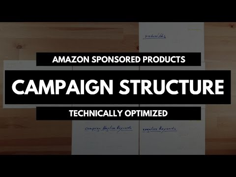 Your campaign structure technically optimized - Amazon Sponsored Products