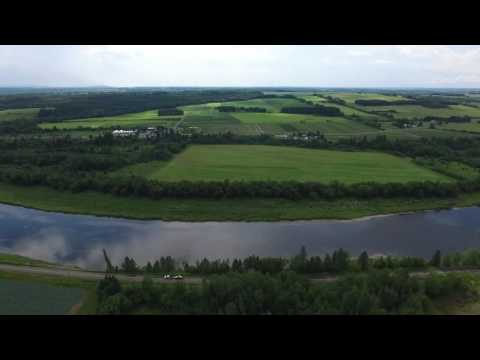 One mile flight over Caribou, Maine.