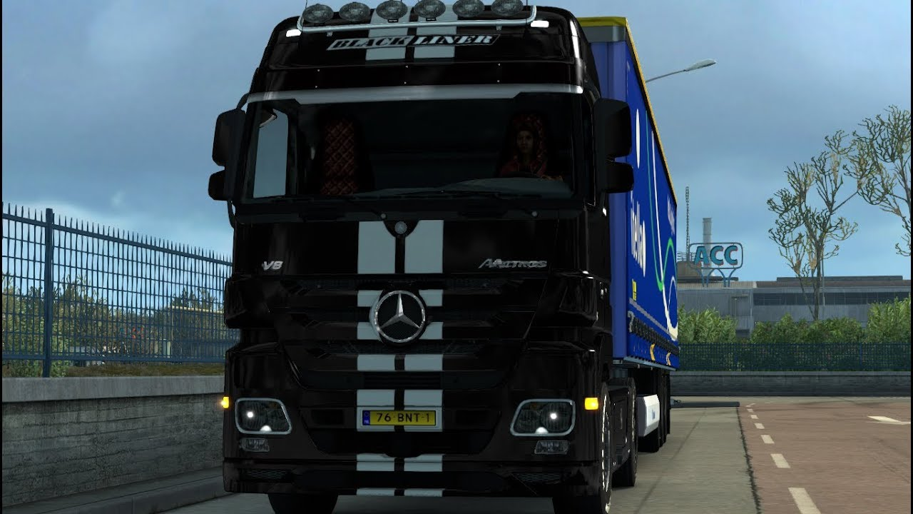 ets2 benz actros mp3 black liner 1851 palermo to catania. Black Bedroom Furniture Sets. Home Design Ideas