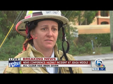 News conference: Hazmat incident at Jeaga Middle School
