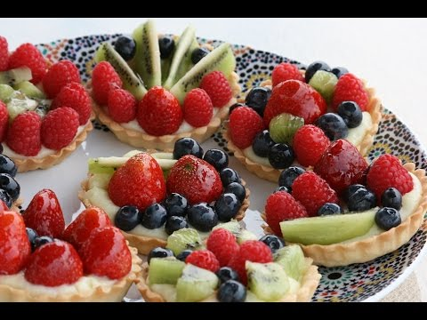 Tartelettes aux Fruits Frais - Fresh Fruit Tartlets - YouTube