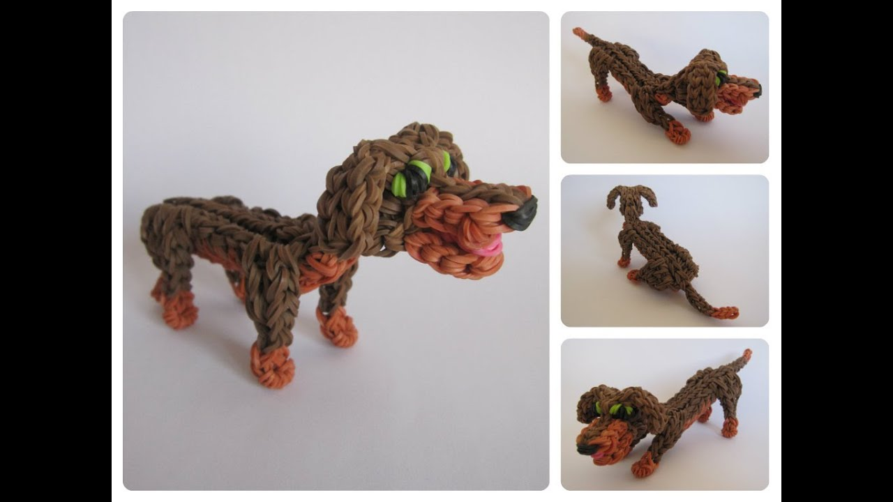 Très Rainbow Loom dachshund Part 1/2 Loombicious - YouTube XL92