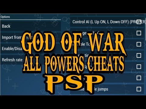 God of war chains of olympus cheats code all power