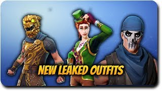 """Fortnite Battle Royale """"New Leaked Outfits!"""" St. Pattys Day and Athena Skins!"""