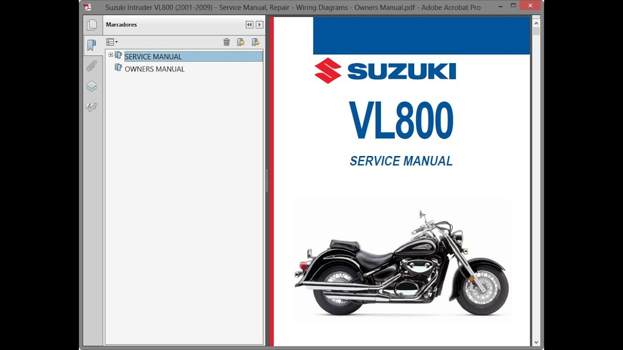 Suzuki Intruder Vl800  2001-2009    Repair