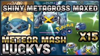 LUCKY & SHINY METAGROSS MAXED OUT IN POKEMON GO | 15 SHINY BELDUM FOUND | METEOR MASH IS KING