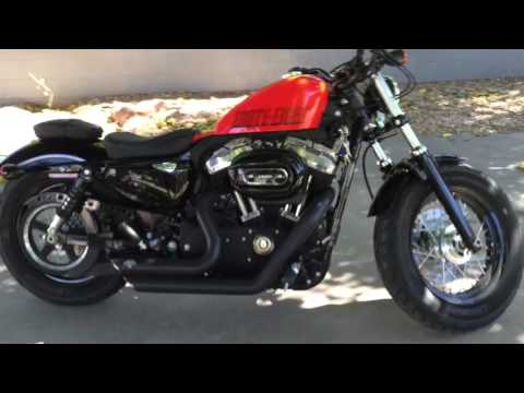 Harley Davidson Forty Eight Sportster with Vance and Hines short stack Exhuast
