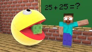 Monster School : Rescue Slime from PACMAN - Funny Minecraft Animation