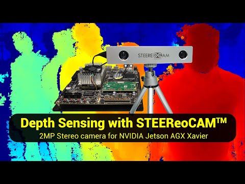 Depth Sensing demo of STEEReoCAM™ with NVIDIA Jetson AGX Xavier/TX2