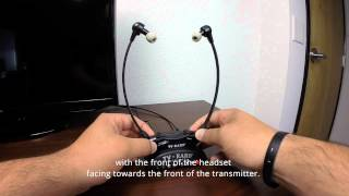 TV Ears 5 0 Headset Adjustment Instructions