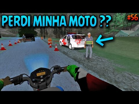 GTA SAN ANDREAS - MOTOVLOG Vida Real #56 - CAI NA BLITZ COM A MOTO SÓ O CANO😂