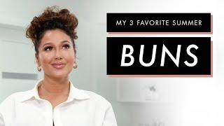 Adrienne Houghton's 3 Favorite Bun Hairstyles | All Things Adrienne