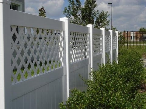 Attaching Pvc Fence To Vertical Concrete Wall Youtube