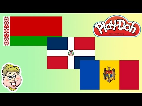 Play-Doh Flags! Moldova, Dominican Republic, and Belarus!  EWMJ #158