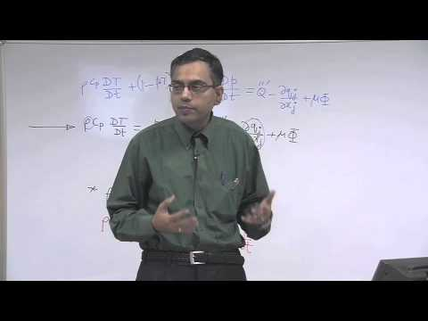 Mod-01 Lec-08 Energy Equation (Contd.) and Species Conservation Equation