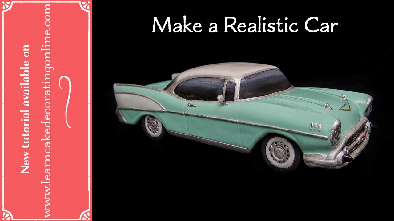 How To Make A Realistic Chevy Car Cake Youtube