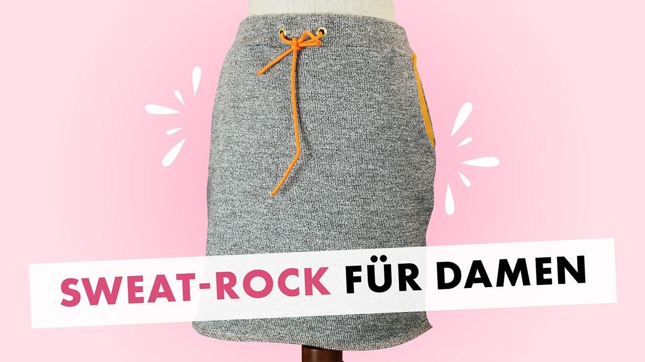 Damen Nähen Von Kid Für 5 Women Cozy Skirt Sweatrock dBCxore