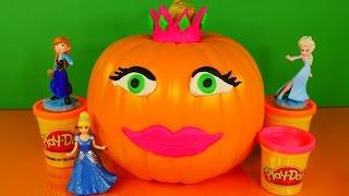 Play Doh Princess Halloween Decorating Pumpkin With Playdough Do It Yourself Princesa De Plastilina
